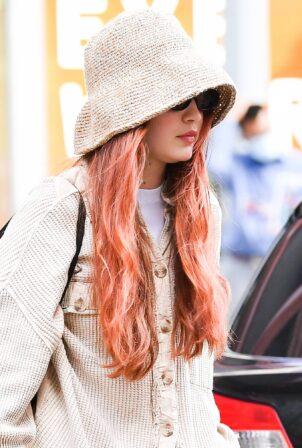 Gigi Hadid - Wears a bucket hat in New York