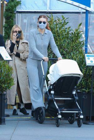 Gigi Hadid - With her baby Khai in Soho - New York