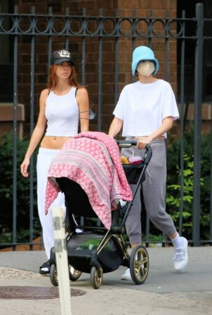 Gigi Hadid - With her daughter Khai out in New York