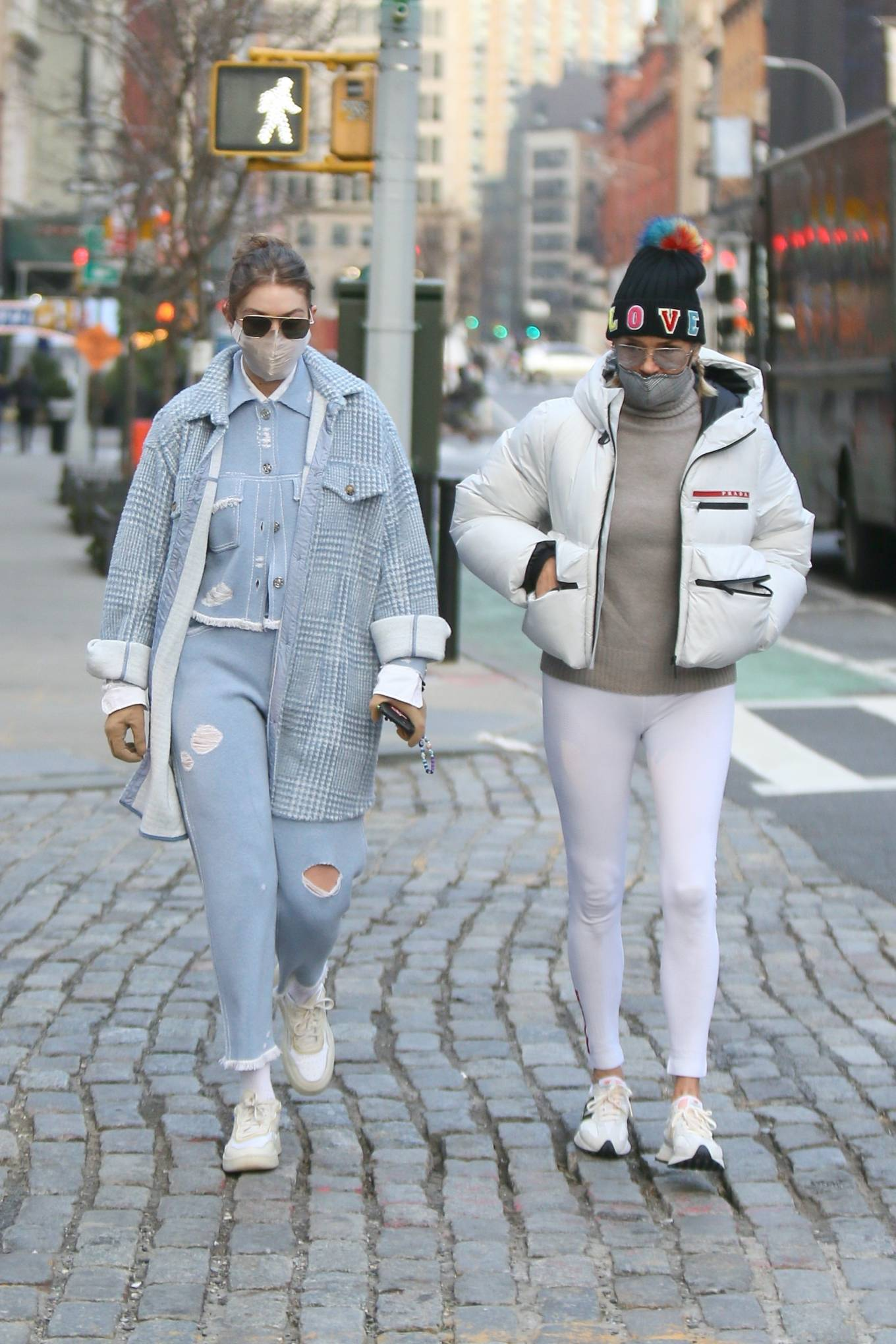 Gigi Hadid - With her mother in SoHo