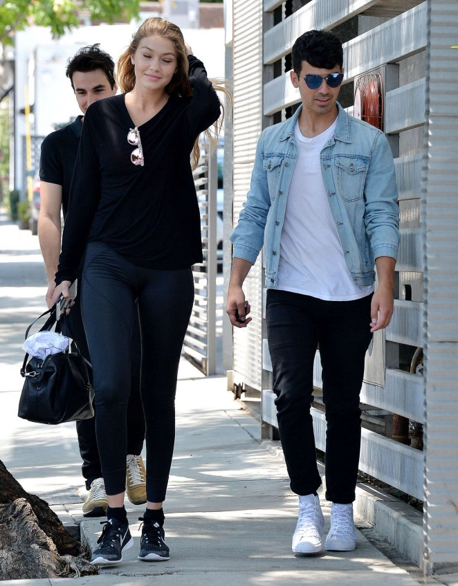 Gigi Hadid with Joe Jonas in LA -04 - GotCeleb