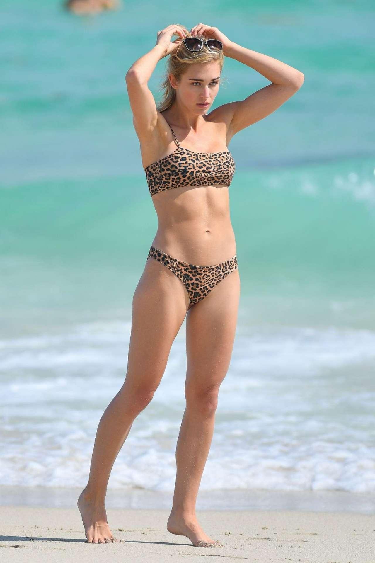 Gilda Joelle Osborn Wears a Leopard Print Bikini
