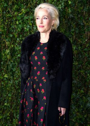 Gillian Anderson - 2018 Charles Finch x Chanel Pre-Bafta Party in London