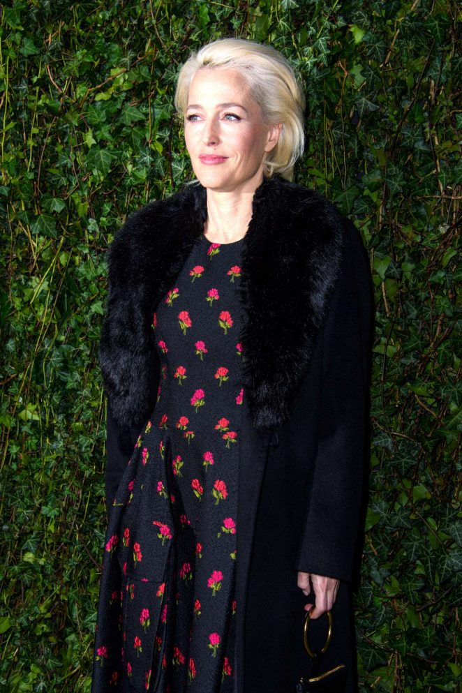 Gillian Anderson – 2018 Charles Finch x Chanel Pre-Bafta Party in London