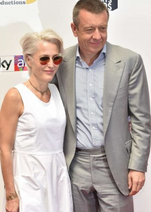 Gillian Anderson and Peter Morgan - Southbank Sky Arts Awards 2018 in London