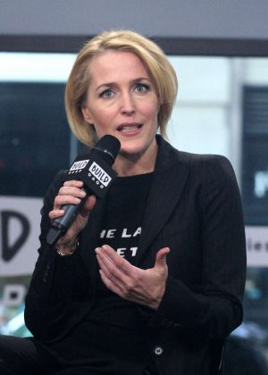 Gillian Anderson at AOL Build Studio in NYC