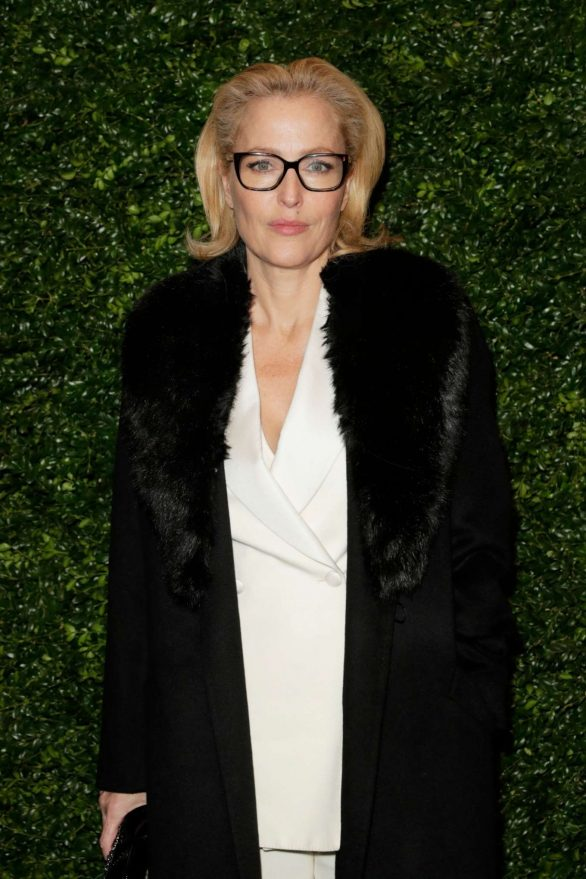 Gillian Anderson - Charles Finch and Chanel Pre-BAFTA Party in London