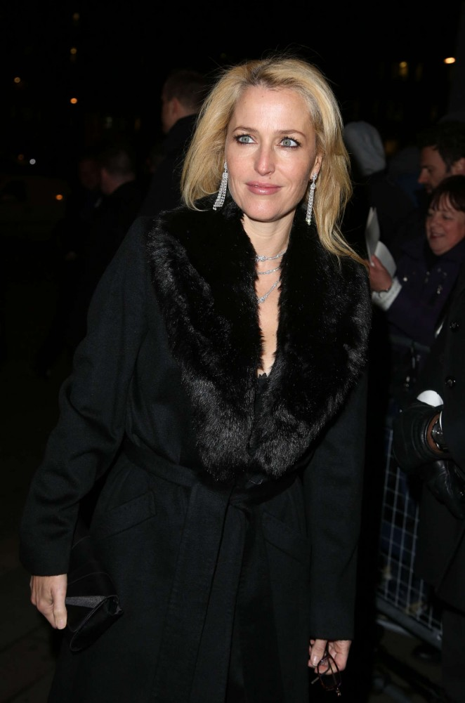 Gillian Anderson - Charles Finch & CHANEL Pre-BAFTA Party in London