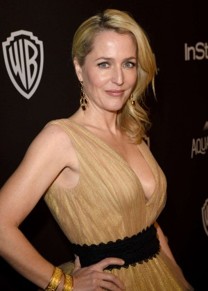 Gillian Anderson - InStyle and Warner Bros. 2016 Golden Globe Awards Post-Party in Beverly H