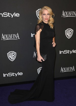 Gillian Anderson - InStyle And Warner Bros Golden Globes Party 2015 in Beverly Hills