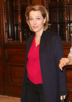 Gillian Anderson - Leaving the Noel Coward Theatre in London
