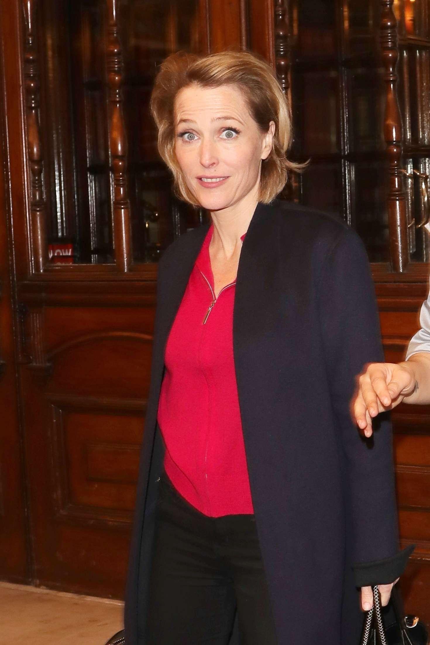 Gillian Anderson - Leaving the Noel Coward Theatre in London
