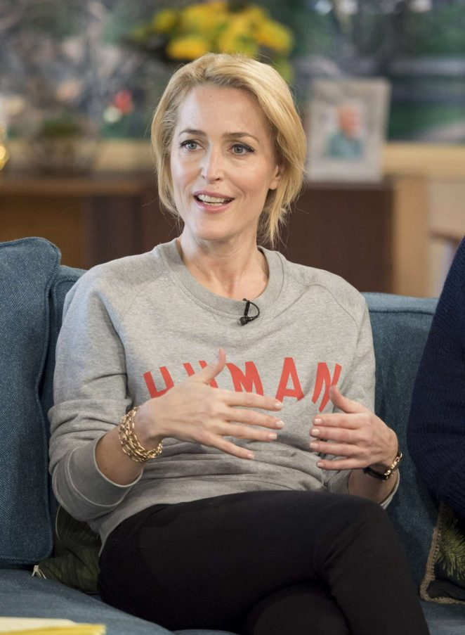 Gillian Anderson on 'This Morning' TV show in London