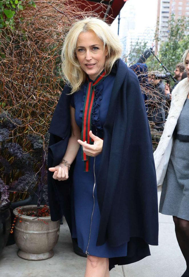 Gillian Anderson out in New York