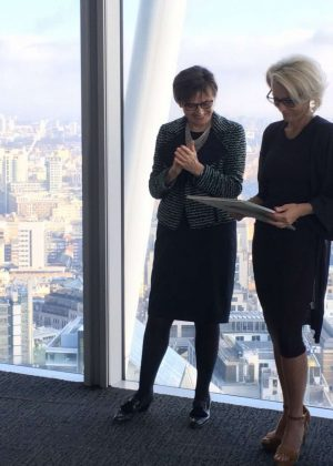 Gillian Anderson - Pictured Receiving City Literary Institute Lifetime Fellowship Award in London