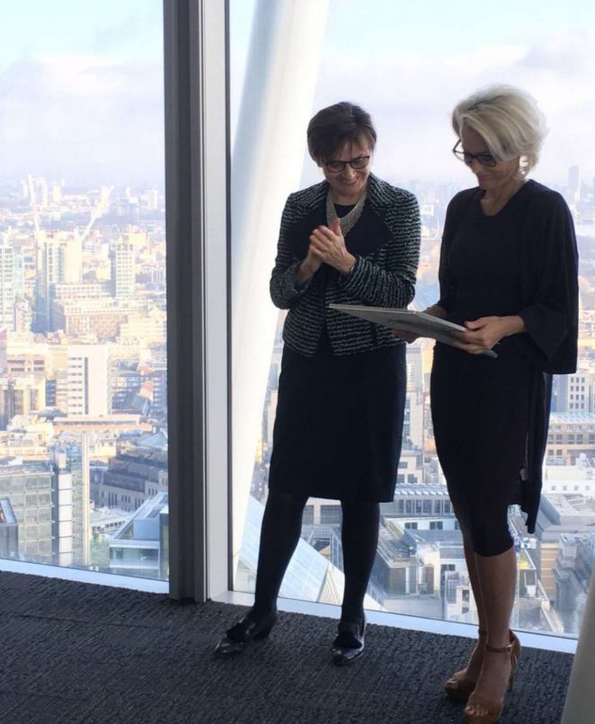 Gillian Anderson – Pictured Receiving City Literary Institute Lifetime Fellowship Award in London