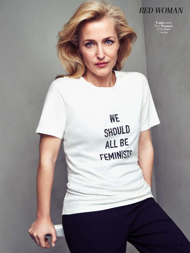 Gillian Anderson - Red UK Magazine (April 2017)