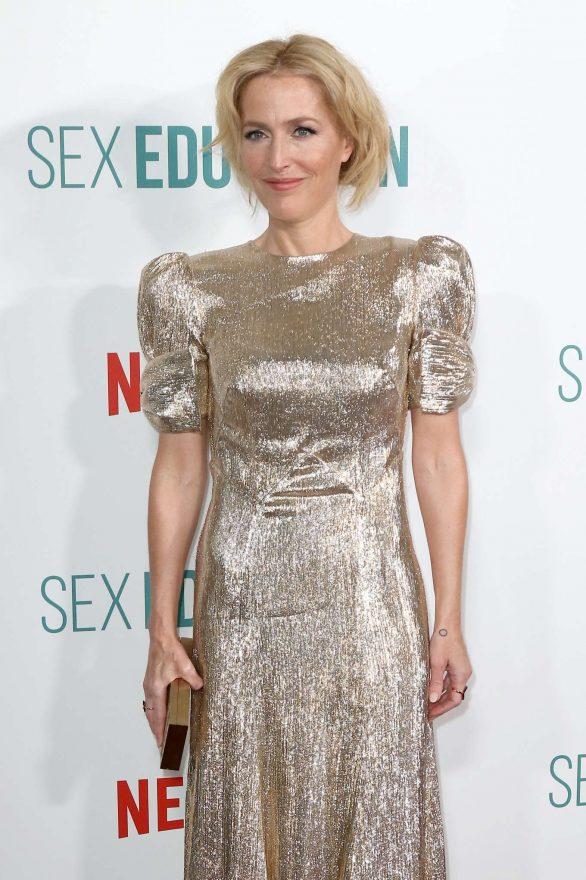 Gillian Anderson - 'Sex Education' Season 2 Premiere in London
