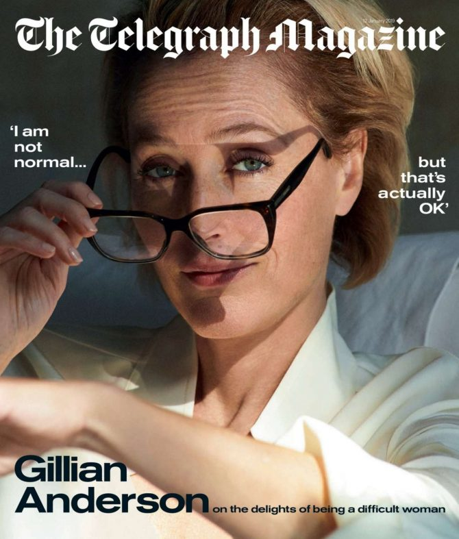 Gillian Anderson – The Telegraph Magazine (January 2019)