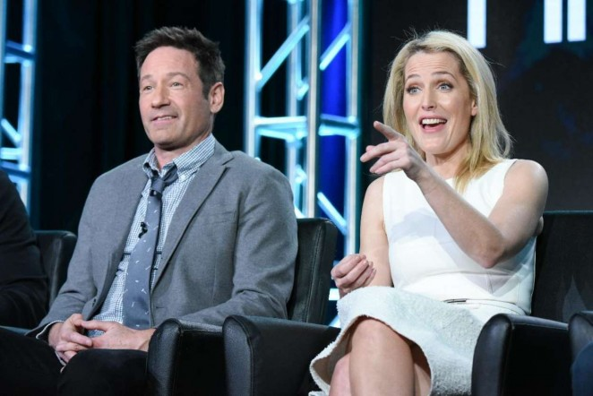 Gillian Anderson - 'The X Files' panel at the Fox Winter TCA 2016 in Pasadena