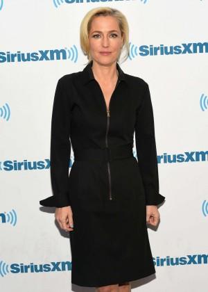 Gillian Anderson - Visits SiriusXM Studios in NYC