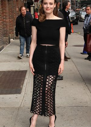 Gillian Jacobs - Arrives at 'The Late Show with Stephen Colbert' in New York