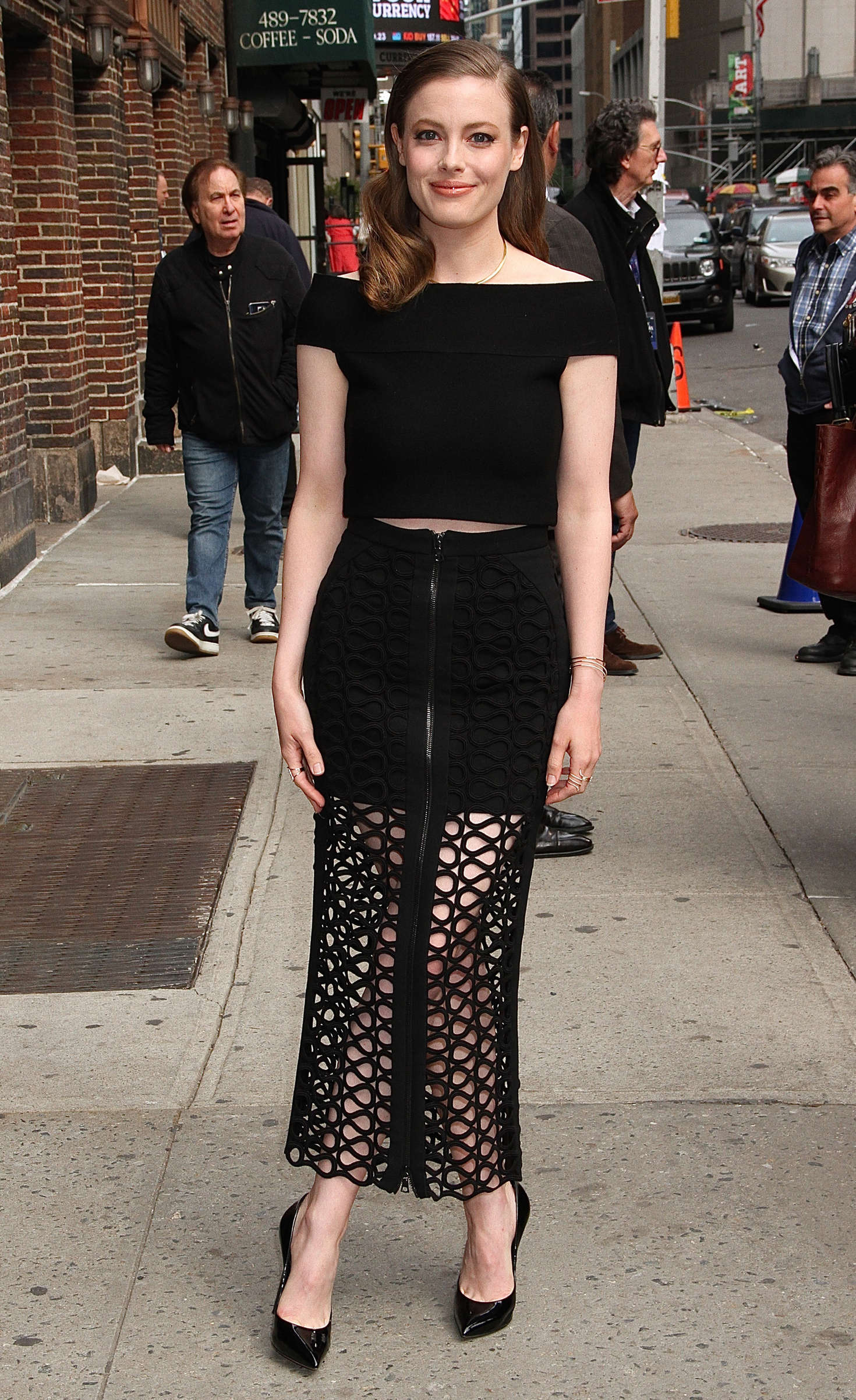 Gillian Jacobs Arrives At The Late Show With Stephen