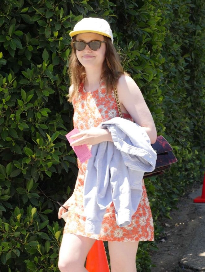 Gillian Jacobs - Arriving to The in Style Gifting Suite in Brentwood