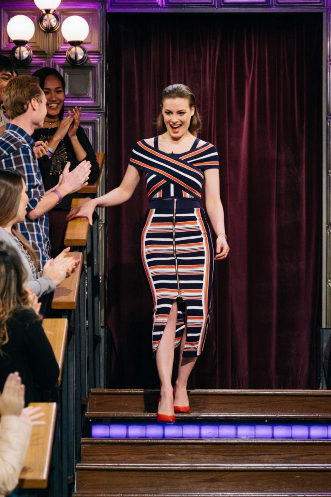 Gillian Jacobs on 'The Late Late Show with James Corden' in Los Angeles