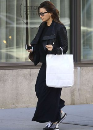 Gina Gershon in Black out in New York City