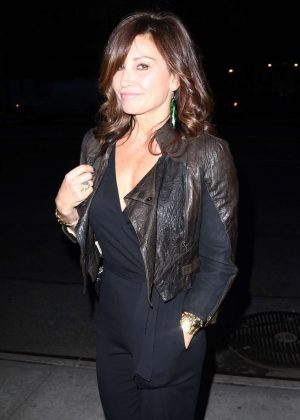 Gina Gershon - Leaving the Turtle Ball in New York City
