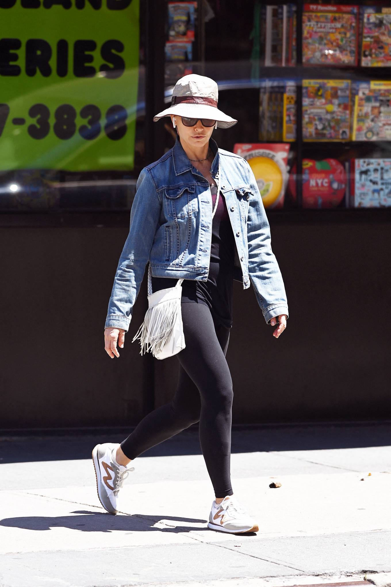 Gina Gershon - out for a walk in the Tribeca Neigborhood of New York