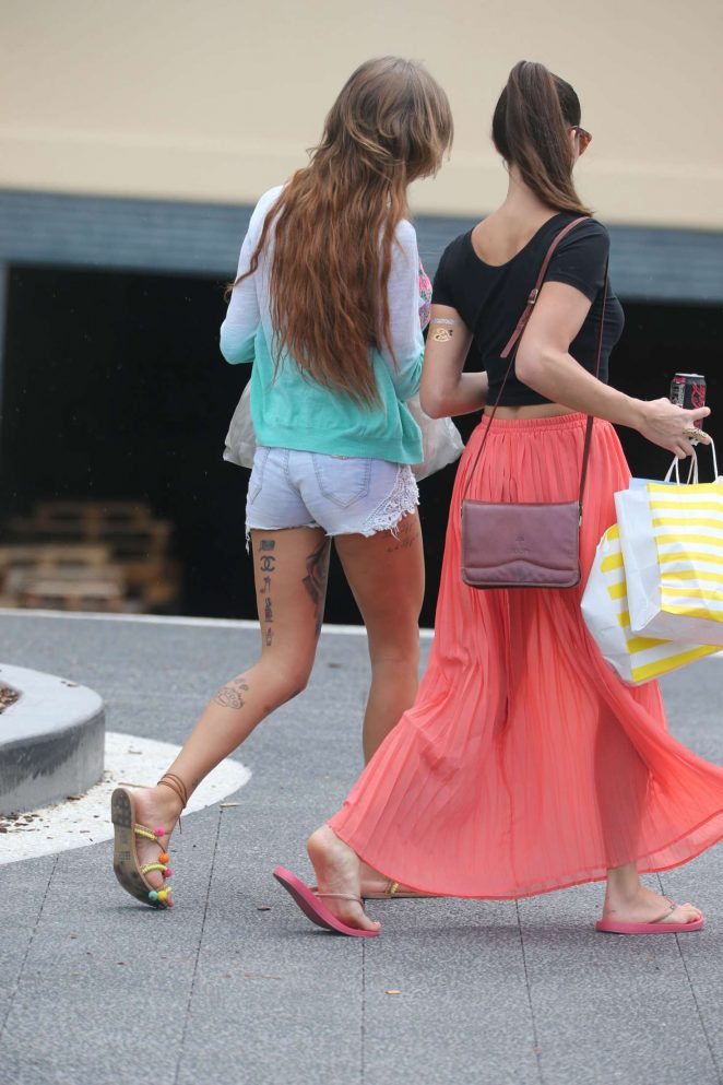 Gina Lisa Lohfink and Nicole Mieth out in Surfers Paradise