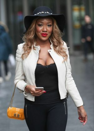 Gina Rio - Leaving the BBC Radio 1 Extra Studio in London