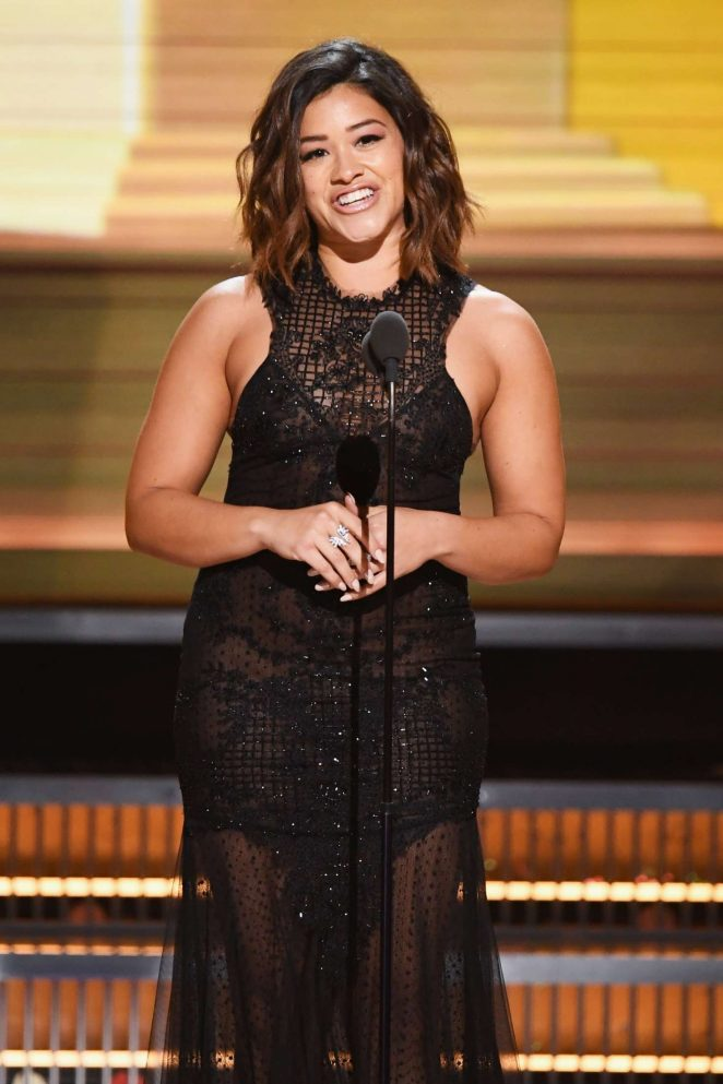 Gina Rodriguez – 59th GRAMMY Awards in Los Angeles