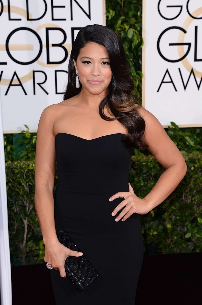 Gina Rodriguez - 2015 Golden Globe Awards in Beverly Hills