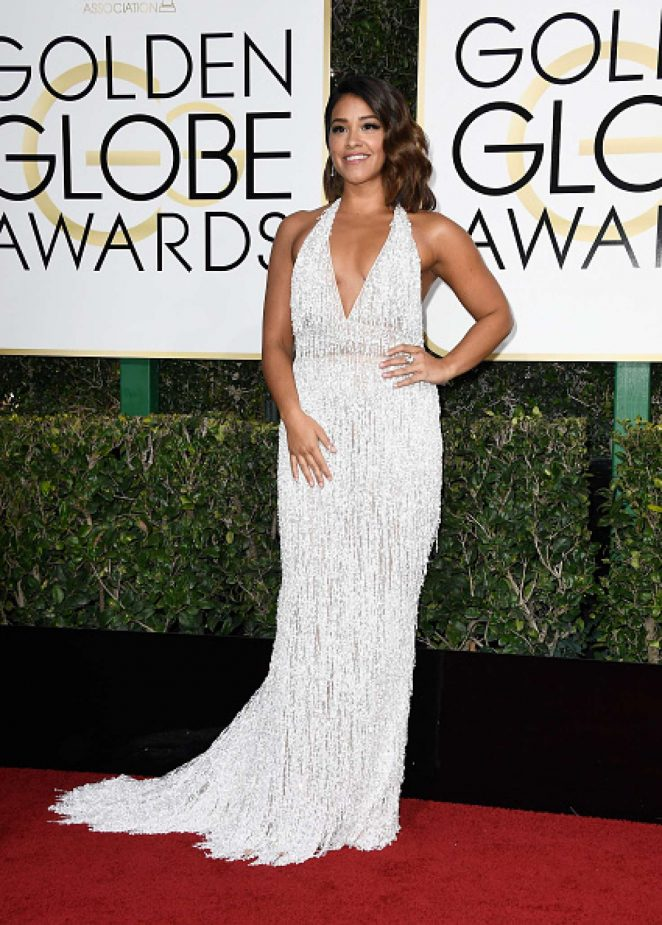 Gina Rodriguez – 74th Annual Golden Globe Awards in Beverly Hills
