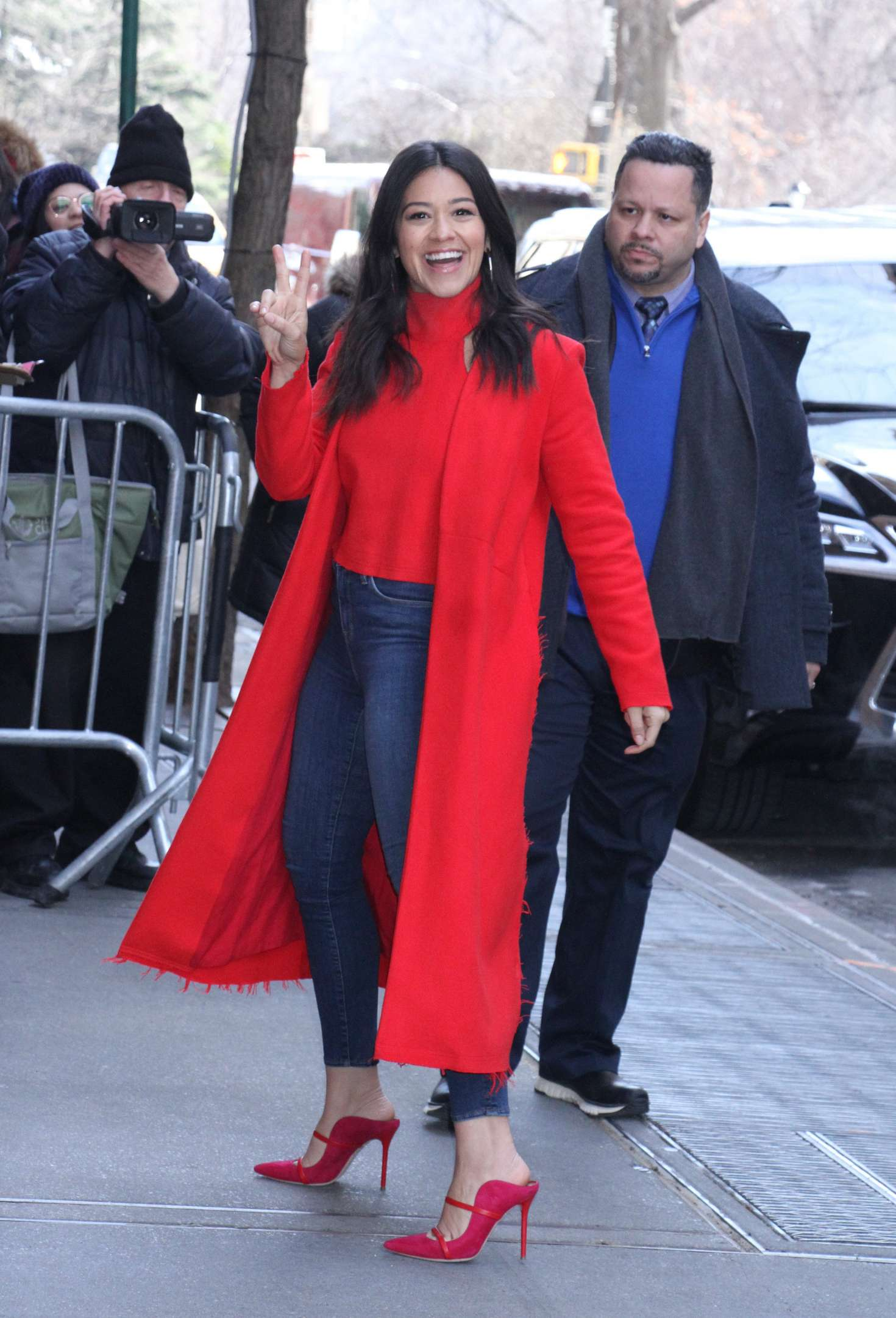 Gina Rodriguez - Arrives at The View in New York City