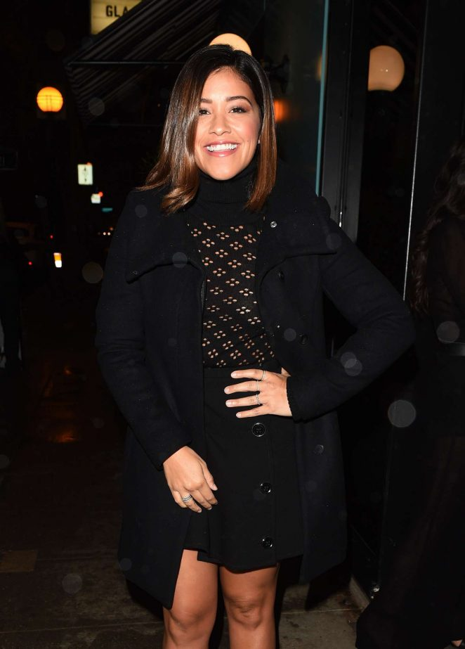 Gina Rodriguez – Arriving to A Pre Golden Globe Party in LA