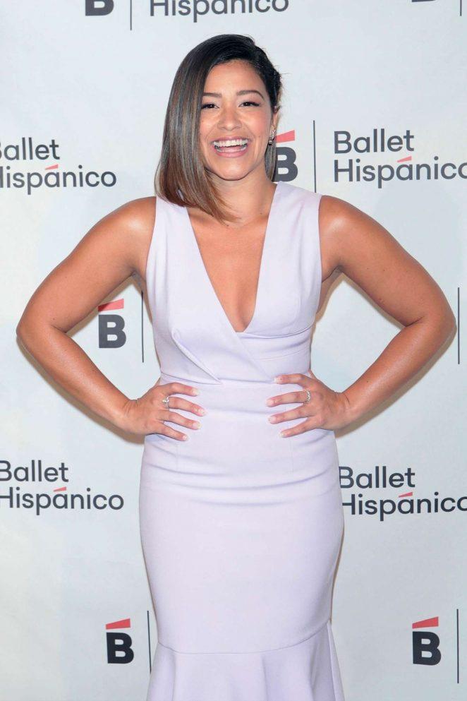 Gina Rodriguez – Ballet Hispanico Carnaval Gala 2017 in NY
