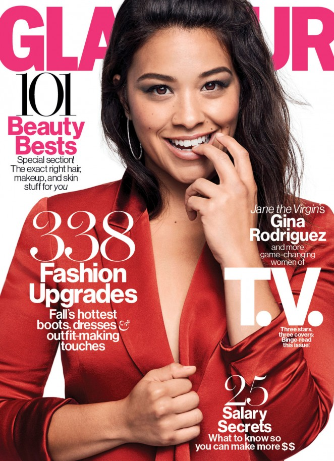 Gina Rodriguez - Glamour US Magazine (October 2015)