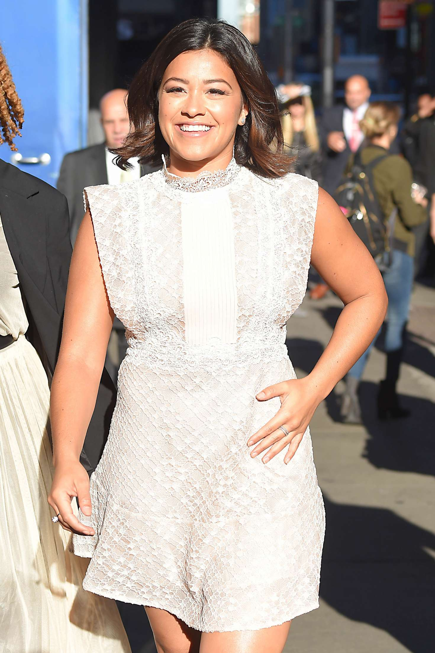 Gina Rodriguez - Leaves The Good Morning America Show in New York