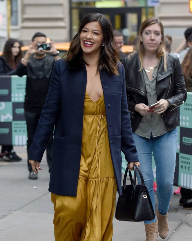 Gina Rodriguez - Leaving AOL Build in New York City