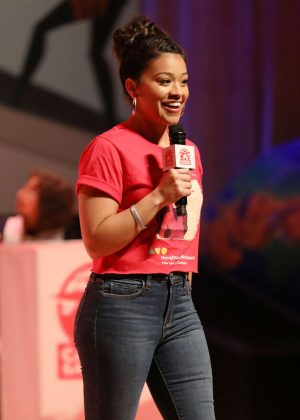 Gina Rodriguez - On stage as she hosts 'Carmen Sandiego Day' in Miami