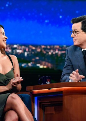 Gina Rodriguez on 'The Late Show with Stephen Colbert' in New York