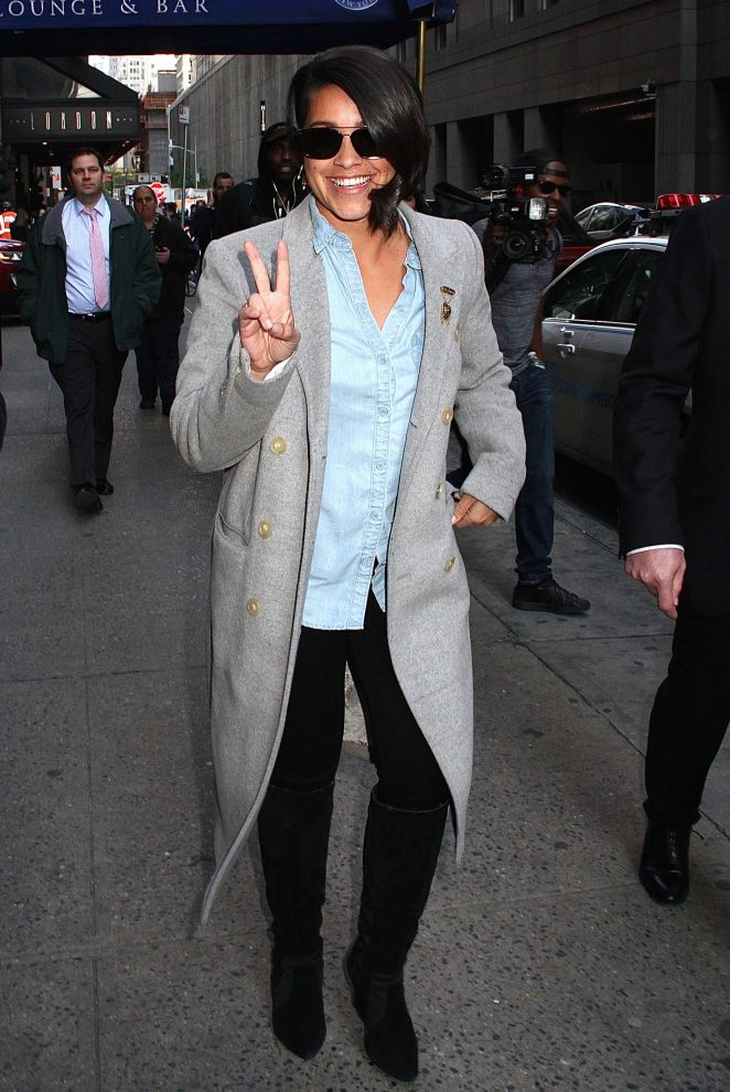 Gina Rodriguez out in New York -02