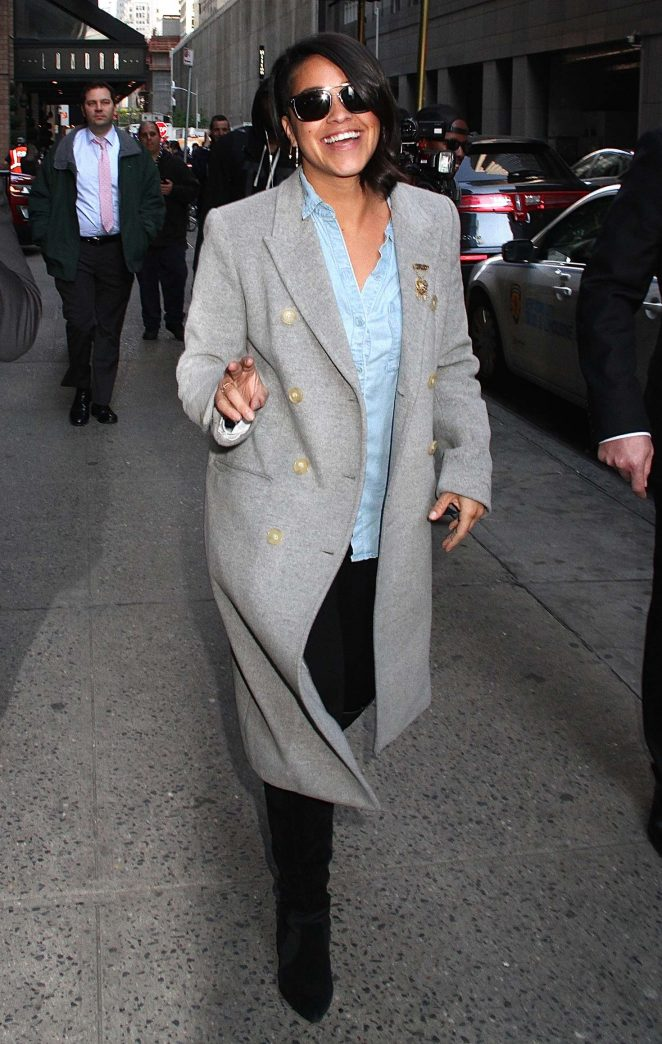 Gina Rodriguez out in New York -05