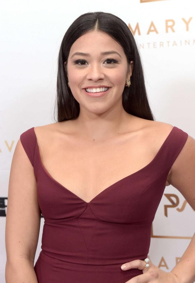 Gina Rodriguez – Primary Wave 10th Annual Pre-Grammy Party in LA