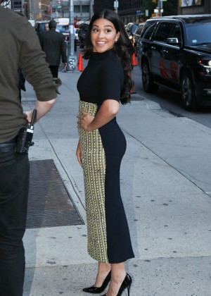 Gina Rodriguez - 'The Late Show With Stephen Colbert' in NYC