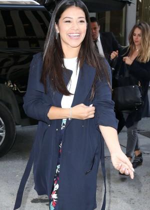 Gina Rodriguez - Visits Sirius XM Studios in NYC